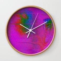 11-23-56 (Moving Circles Glitch) Wall Clock