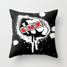 EMR crew logo rmd tweak Throw Pillow