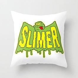 Slimer Throw Pillow