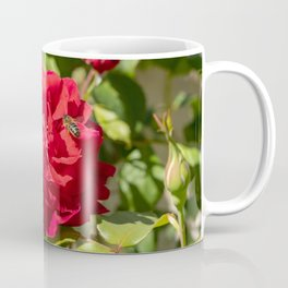 bee on rose Coffee Mug