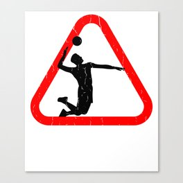 Awesome Volleyball T Shirt Canvas Print
