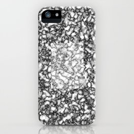 Black and white marble texture 7 iPhone Case