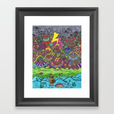 the scuba diver Framed Art Print