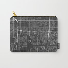 Tempe Map, USA - Gray Carry-All Pouch
