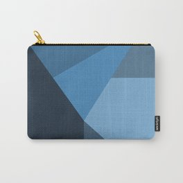 Geometric Blues Carry-All Pouch