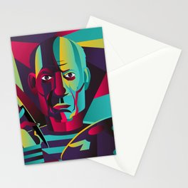 great spanish colorful portrait painter Stationery Cards