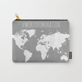 #WorldDomination World Map in Grey for Sales or Travel Carry-All Pouch