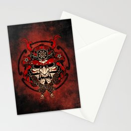 Samurai Mask, Budo, Bushido, Stationery Cards