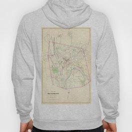 Vintage Map of Waterbury CT (1893) Hoody