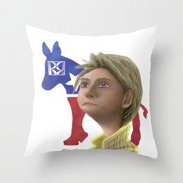 Hillary Clinton Caricature Throw Pillow