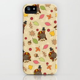 Thanksgiving Turkey pattern iPhone Case