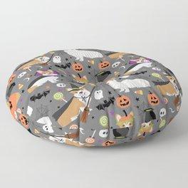 Corgi halloween costume ghost mummy vampire howl-o-ween dog gifts Floor Pillow