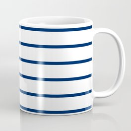 Navy and White Breton Stripes Coffee Mug