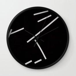 Diagonals II Wall Clock