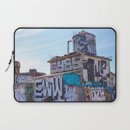 Williamsburg Rooftop Graffiti Laptop Sleeve
