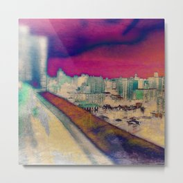Cartoon City Triptych Left Metal Print