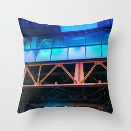 Windows of Blue Throw Pillow