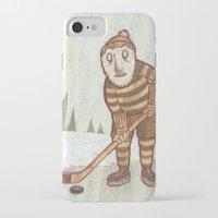 hockey iPhone & iPod Cases featuring Hockey Yeti by Kip Noschese
