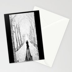 Winter Walk in the Park Stationery Cards
