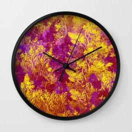 Golden Tree Abstract Wall Clock