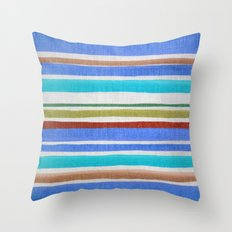 AZTEC BLANKET - BLUE Throw Pillow