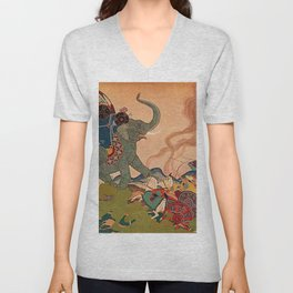 """The Pearl Warrior"" by Edmund Dulac Unisex V-Neck"