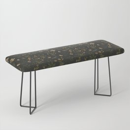 Old World Florals Bench