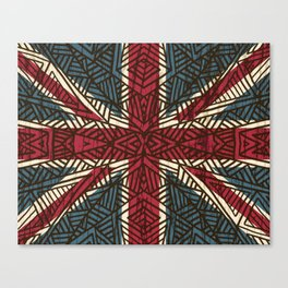 Union Jack - Vintage Tribal Canvas Print