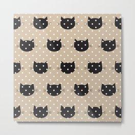 Polka dot cats Metal Print