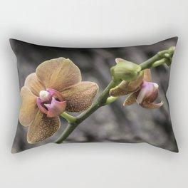 Orange Orchid Rectangular Pillow