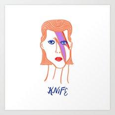 David Bowie Knife Art Print