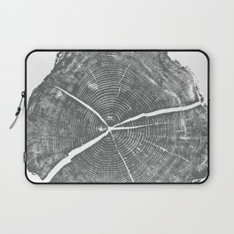 Locust Tree ring image, woodcut print Laptop Sleeve