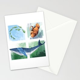 Down in the Ocean Stationery Cards