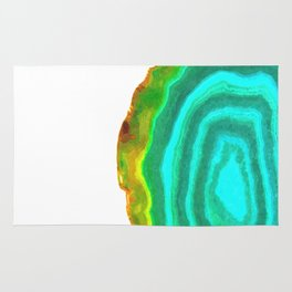 Druze turquoise agate Rug