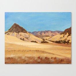 San Luis Obispo Bishop's Peak Plein Air Oil Painting Canvas Print