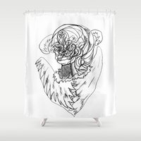 wave Shower Curtains featuring Wave. by sonigque