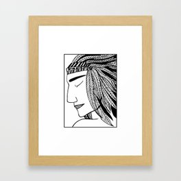 Native Indian Feathers Framed Art Print