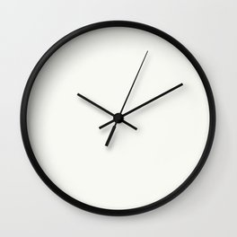 Off-White - Crisp Linen White Solid Color Parable to Behr Ultra Pure White UPW Wall Clock