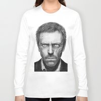 house md Long Sleeve T-shirts featuring House MD by Olechka