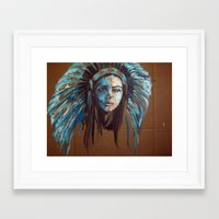 lana Framed Art Prints featuring Lana by Meagan Dwyer