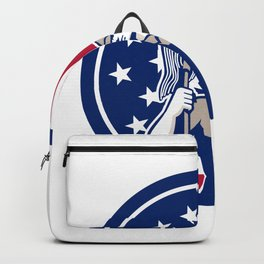 American Industrial Cleaner USA Flag Icon Backpack