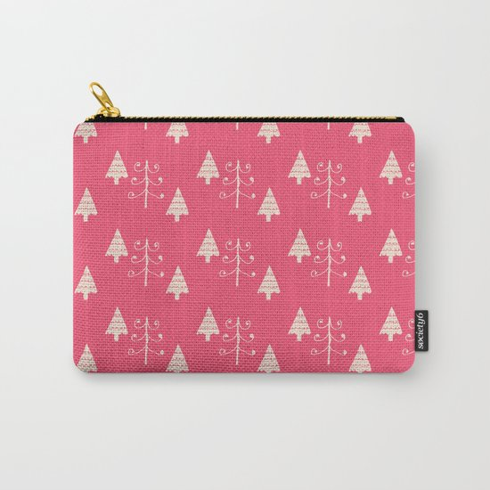 Christmas tree pink Carry-All Pouch