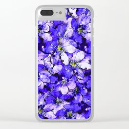 lilac ground Clear iPhone Case