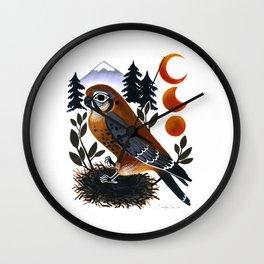 The Blue Ridge Kestrel Wall Clock