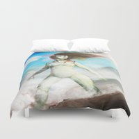 mother Duvet Covers featuring Mother by Roux