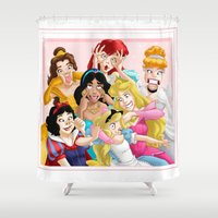 princess Shower Curtains featuring Smile for the Camera by Brianna