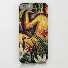 'Lovers & Orchids - The Garden of Eden' by J. Andre Smith iPhone Case