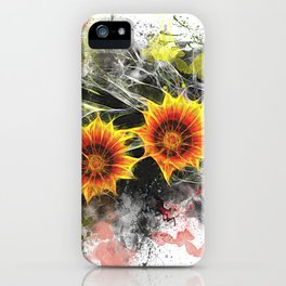 Glowing yellow daisies on white iPhone Case