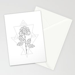 Polygonal Rose Stationery Cards