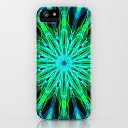 Mandala - Green Implosion iPhone Case